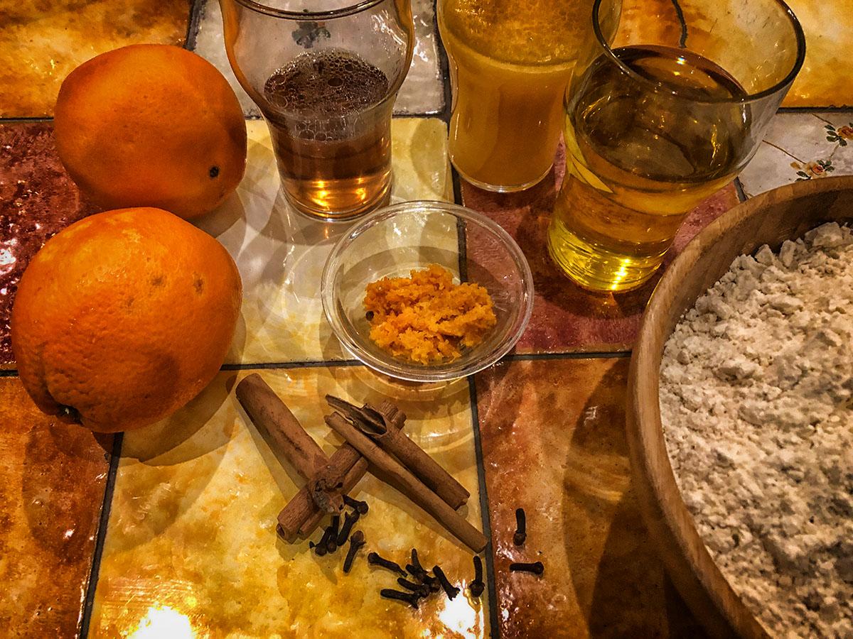 greek melomakarona ingridients pelion gastronomy